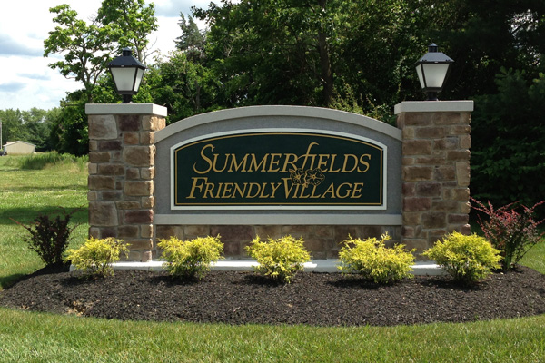 Summerfields Friendly Village entrance sign